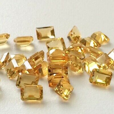 Wholesale Lot of 8x6mm Emerald Cut Natural Citrine Loose Calibrated Gemstone