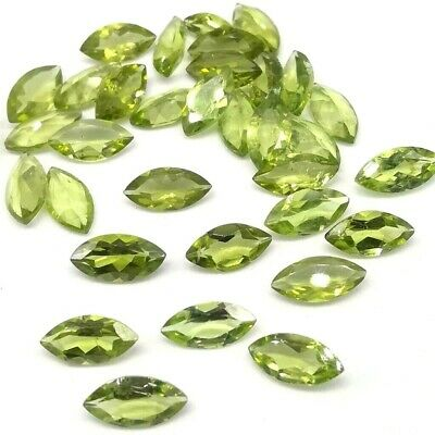 Wholesale Lot of 8x4mm Marquise Cut Natural Peridot Loose Calibrated Gemstone