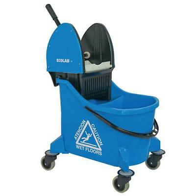 Ecolab - 89990207 - Blue Dual Chamber Down Press Wringer Mop Bucket