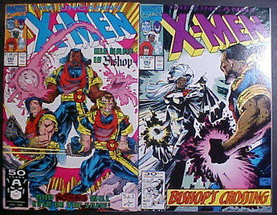 THE UNCANNY X-MEN #'s 282 and 283! 1st APPEARANCE OF BISHOP! 1991 MARVEL COMICS
