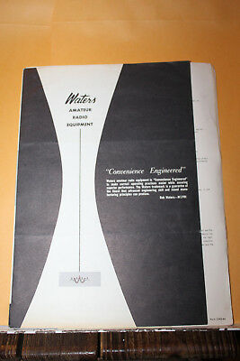Vintage 1965 Waters Amateur Radio Equipment Advertising Brochure Test Rare