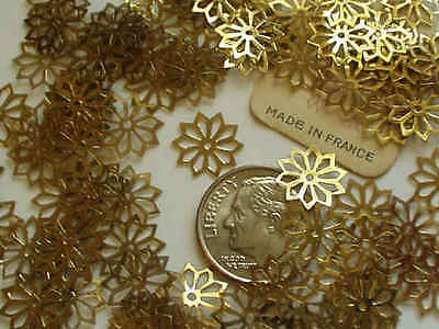 Dual Hued Gold Antique Rare Rosette Cut-Out French Sequins Lot