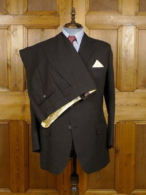 Vintage 1972 Henry Poole Savile Row Bespoke Brown 3-Piece Suit 43 Reg To Long