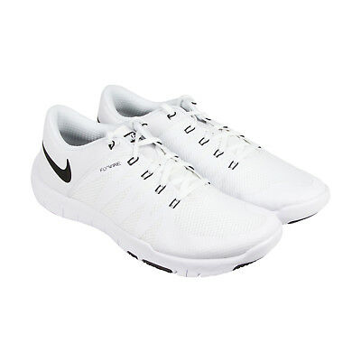 e9d2af43f54f Nike Free Trainer 5.0 V6 Tb Mens White Mesh Athletic Lace Up Training Shoes  15