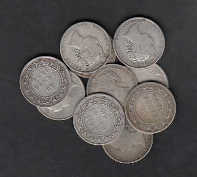 1965-1900 Canada New Foundland 50 Cents Silver Coins Lot Of 10