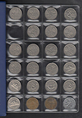 1922 Canada 5 Cents Coin Collection Of 93 In Album