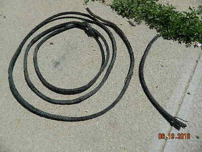 """VINTAGE BRAIDED COPPER  LIGHTNING ROD GROUND CABLE-12 FEET- 3/8"""" DIA Weathervane"""