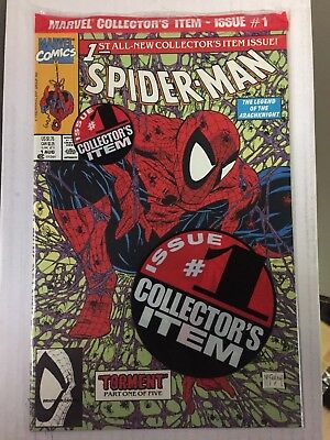 SPIDER-MAN #1, Black Bagged Cover, Todd McFarlane, Marvel, FREE SHIPPING, READ!!