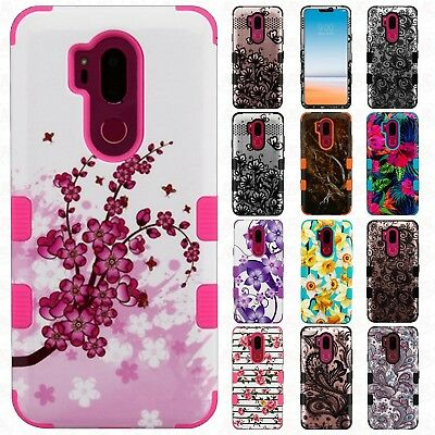 For LG G7 ThinQ Rubber IMPACT TUFF HYBRID Case Skin Phone Cover Accessory