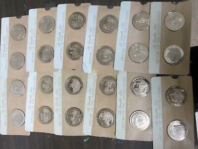 Large Lot Of Bronze Franklin Mint History Of The United States Rounds