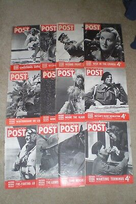 12 x 1942  PICTURE POST Magazines World War 2