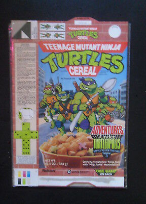 Teenage Mutant Ninja Turtles Cereal box flat