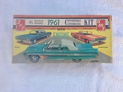 Amt 1961 Mercury Hardtop & Convertible  Vintage Model Car Parts
