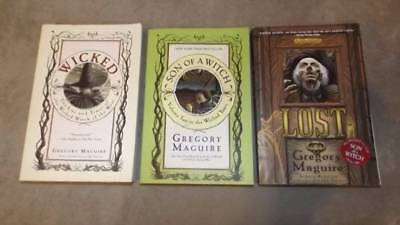 Gregory Maguire Lot of 3 Books Wicked Son Of A Witch Lost