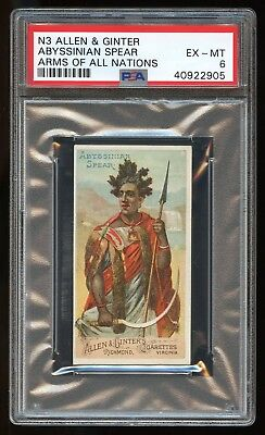 """1887 Allen & Ginter N3 Arms of All Nations """"Abyssinian Sword"""" PSA 6 EX-MT #22905"""
