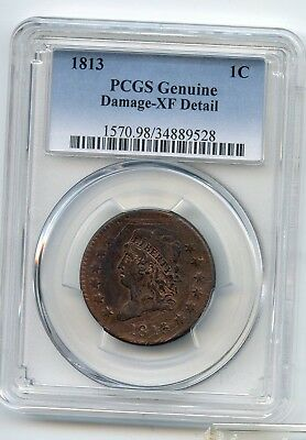 1813 Classic Head Large Cent XF detail PCGS READ & Look at photos! SHARP DETAILS