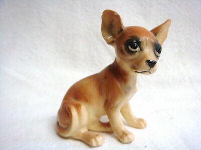TINY VINTAGE Bone China CHIHUAHUA  #BN664