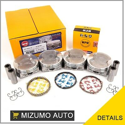 Pistons w/ Rings @STD fit 06-10 Subaru Forester Legacy Outback 2.5 SOHC EJ253