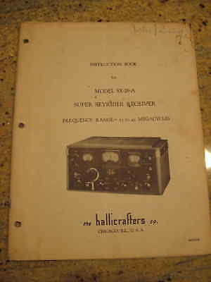 Vintage Hallicrafters SX-28-A Super Skyrider owners manual and schematic