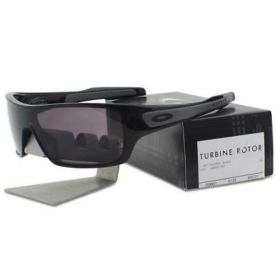 Oakley OO 9307-01 Turbine Rotor Polished Black w/ Warm Grey Lens Mens Sunglasses