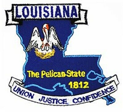 Embroidered USA State Patch Louisiana NEW montage