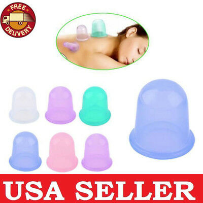 US Large Vacuum Silicone Cup Anti Cellulite Cupping Massage Medical Full Body