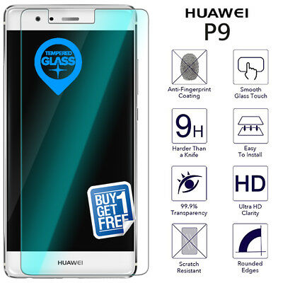 2 x For Huawei P9 EVA-L09 Tempered Glass Screen 9H Protector Premium Film Clear