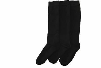 3 pairs womens Girls Thermal welly socks.Black