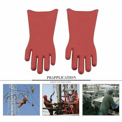 UK # Insulated 12kv High Voltage Electrical Insulating Gloves For Electricians