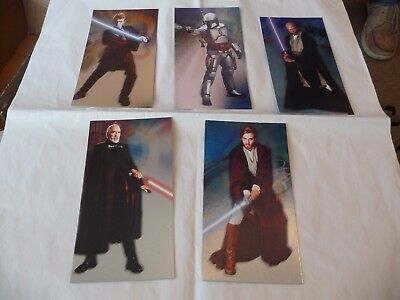 Topps Star Wars Attack Of The Clones Set Of 5 Cards