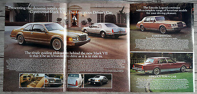 1984 LINCOLN Continental Mark VII Vtg Original Centerfold Print AD - English CA