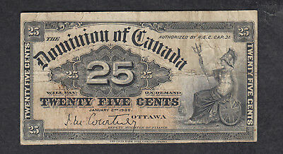 1900 Dominion Of Canada 25 Cents Bank Note Courtney