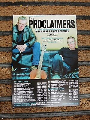 The Proclaimers A5 Tour Flyer From 2009 - Excellent Condition