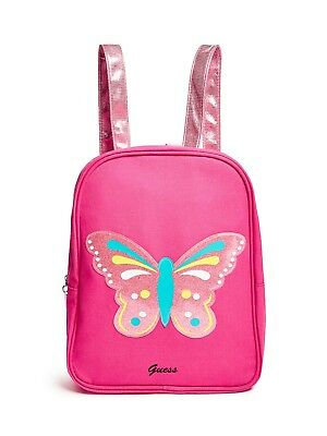 GUESS Factory Girl's Pink Butterfly Backpack