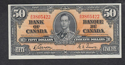 1937 Canada 50 Dollars Bank Note Gordon