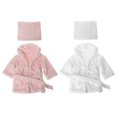 Bathrobes Wrap Newborn Outfit Set Photography Props Baby Photo Shoot Accessories
