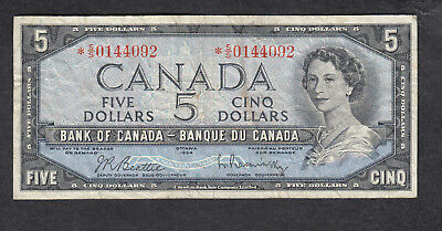 1954 Canada 5 Dollars Replacement Bank Note