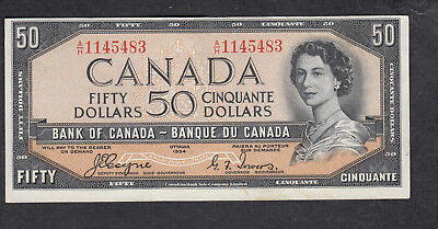 1954 Canada 50 Dollars Bank Note Devil Face Coyne / Tower