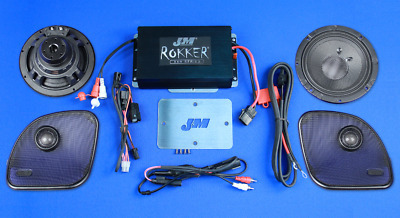 J&M Audio Rokker Extreme 2 Speaker & 350W Amp Kit 2015 & Up Harley Road Glide