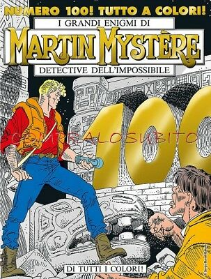 MARTIN MYSTERE n.100 couleur Cover Variant Or limité Lucca 2017 ed. Bonelli