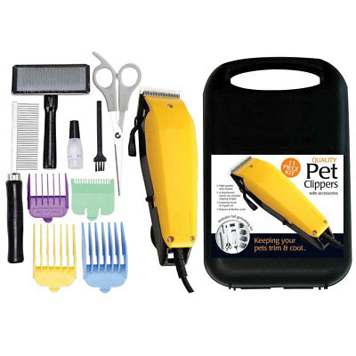 11 Pc Professional Grooming Kit Animal Pet Cat Dog Hair Trimmer Clipper Shaver