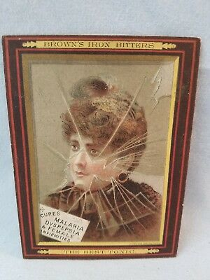 Late 1800's Trade Card Quack Medicine Browns Iron Bitters Female Infirmities NR