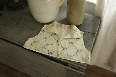 Antique French child's children's vest waistcoat this printed cotton c 1810's