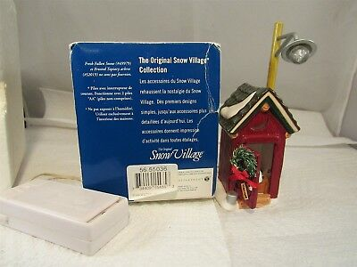 Department 56 The Original Snow Village Backwoods Outhouse Battery Operated