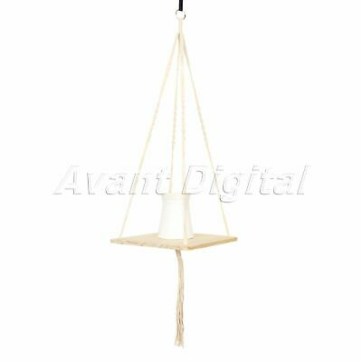Garden Macrame Flower Hanger Pot Plant Holder Hanging Legs Rope Baskets Outdoor
