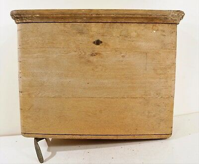 Antique Wood Toilet Tank Wall Mount Wooden Copper Lined Vintage John Douglas Co.