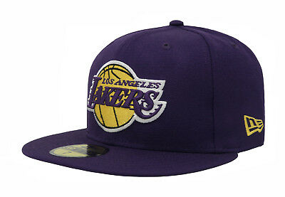 buy online ca38d b33f7 New Era 59Fifty Cap NBA Los Angeles Lakers Mens Purple Gold Fitted Hat 5950
