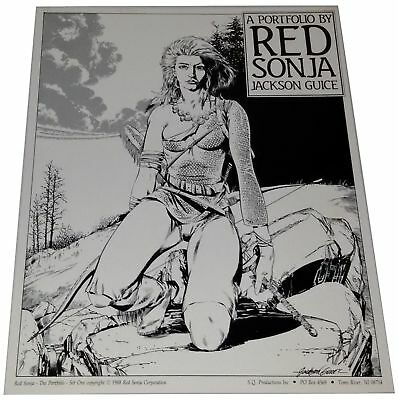 Red Sonja Portfolio Set One Jackson Guice Set 6 Prints