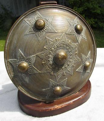 Superb 19th Century Indian Brass Dhal Shield - Finest Workmanship