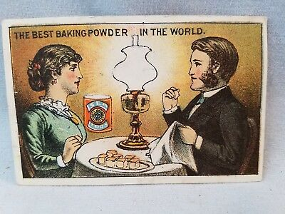 Late 1800's Trade Card Sea Foam Baking Powder Best For Children NO Res